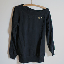 Off-Shoulder Black Pullover by Triple Five Soul