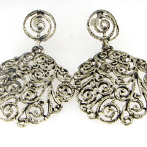 Antiqued Filigree Earrings