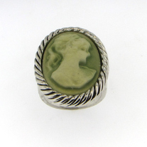 Antiqued Cameo Ring