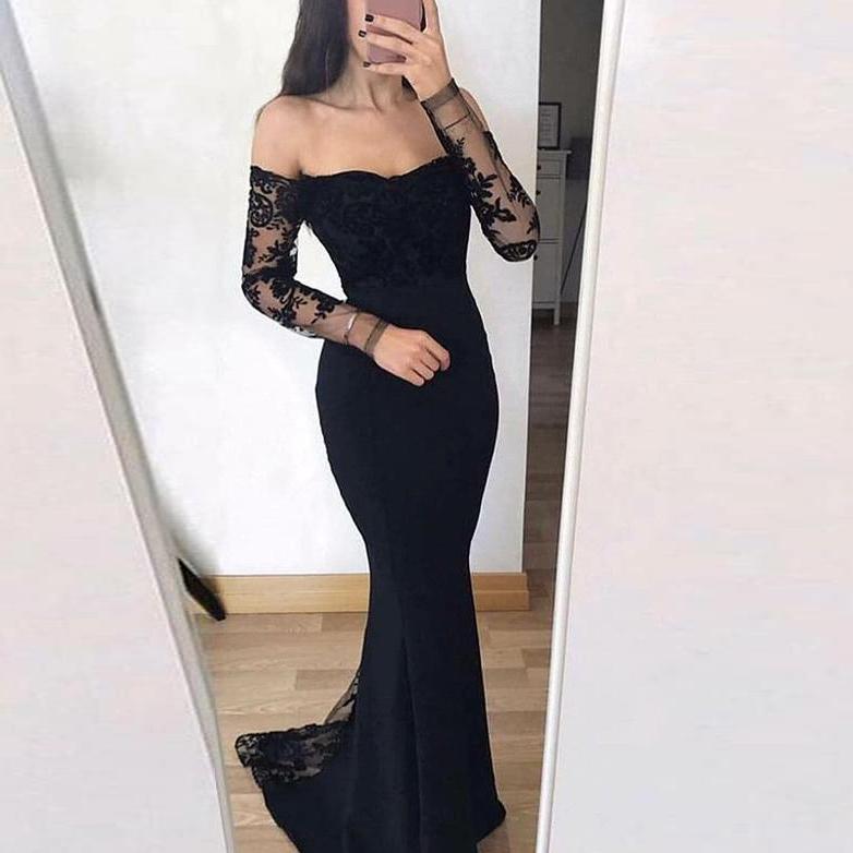 Mermaid Prom Dress Long Sleeves
