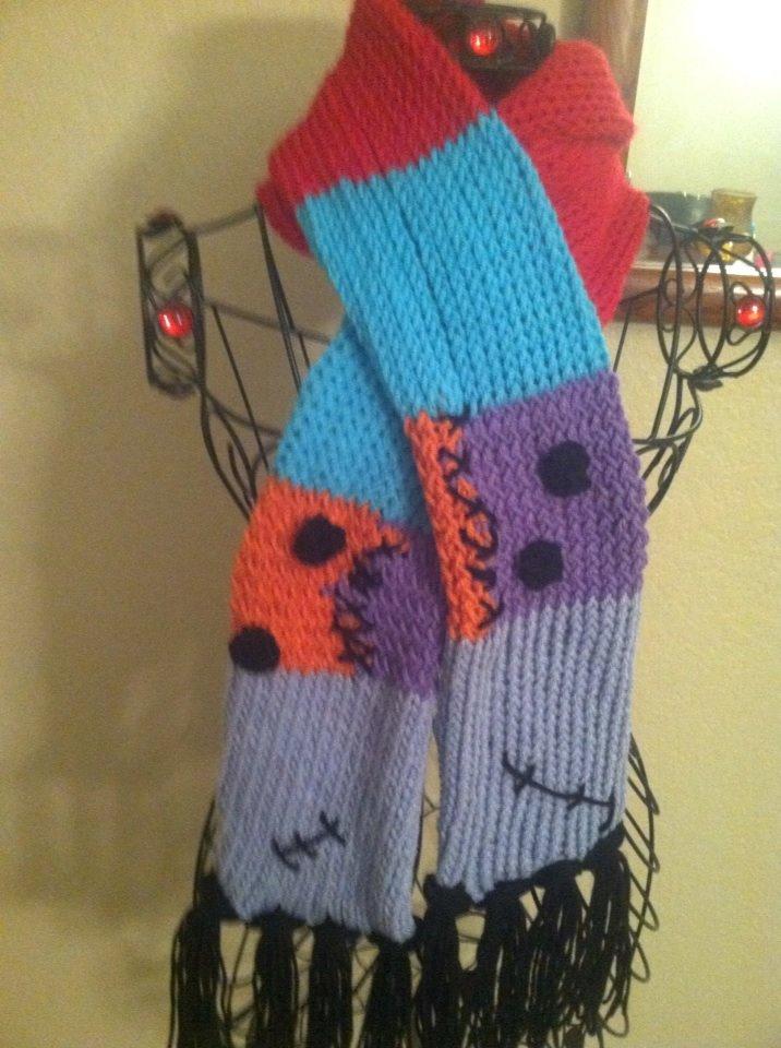 Knitting Pattern Nightmare Before Christmas : Nightmare before Christmas inspired scarf set65 on Storenvy