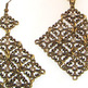 Burnished Gold and Crystal Necklace & Earrings Set - Thumbnail 1