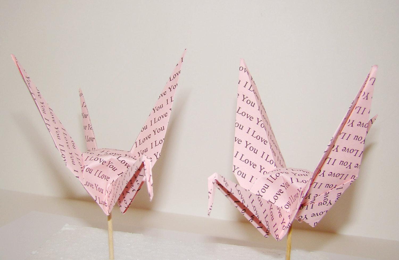 custom printed origami crane party picks 183 origami