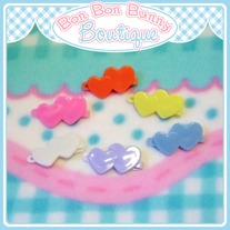 Tiny Treat Hair Clip - Heart Duo