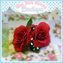 Flower Barrette - Red Rose PROTOTYPE