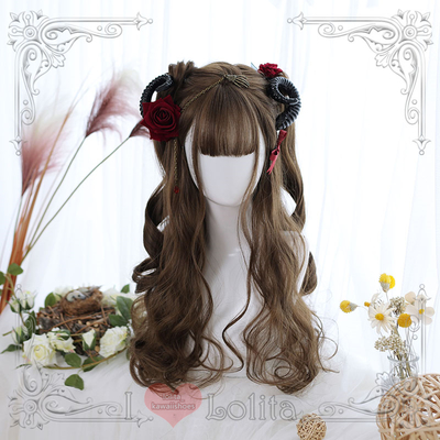 Japanese fashion harajuku long curly wigs lolita wigs daily wigs lk19030721