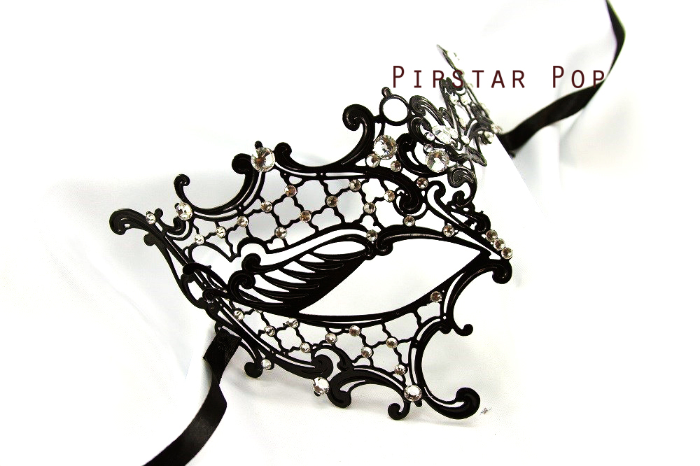 phantom of the opera gothic venetian filigree scroll work metal masquerade mask