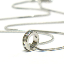 Small Crystal Circle Necklace