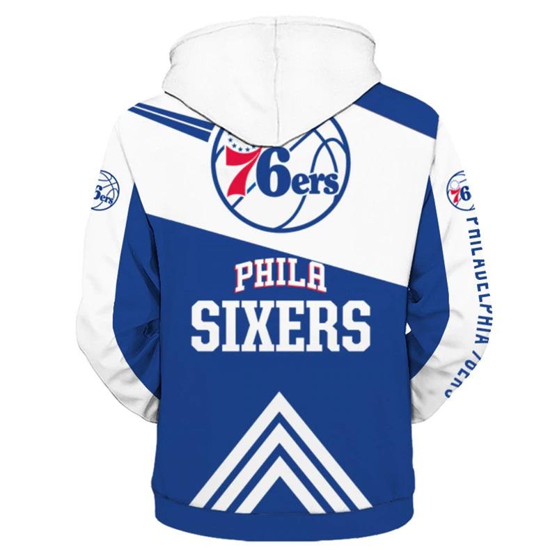 40fa4e27a Philadelphia 76ers NBA Full Zipper Hoodie Basketball Sweatshirts New Season  - Thumbnail 1 ...