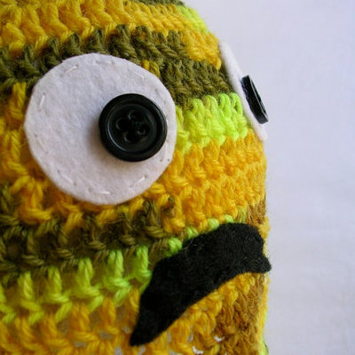 Dwight - hand crocheted my little monster baby hat