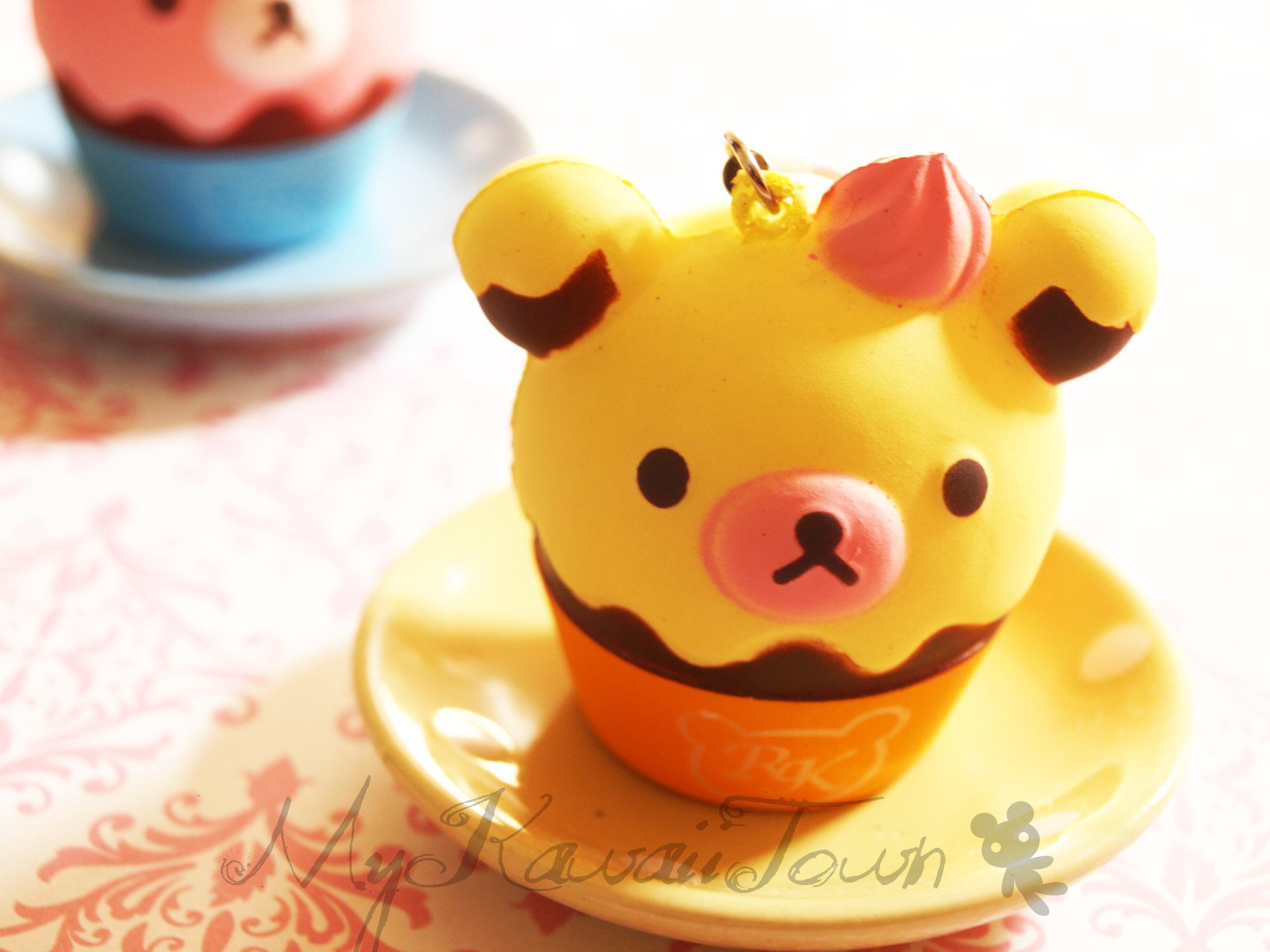 Squishy Cupcake : Pin Squishy Citrus Chocolate Rilakkuma Cupcake From Mykawaiitown On Cake on Pinterest