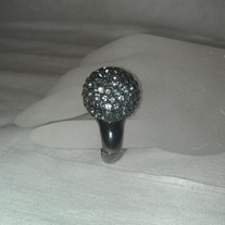 Hematite Mirror Ball Ring
