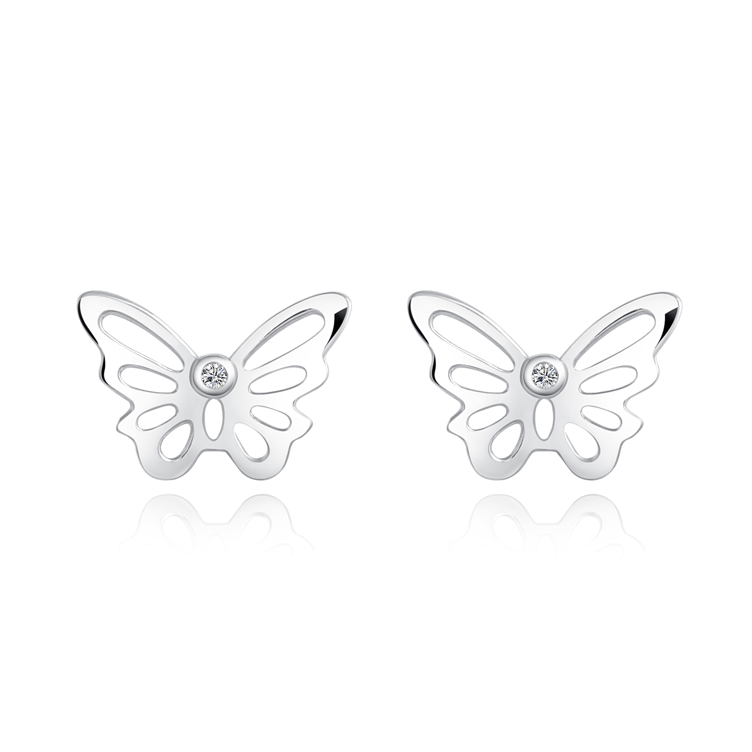 stud clover single dtyzkeu earring earrings exclusive small women butterfly o brent ears m fastening p for c blue neale pierced