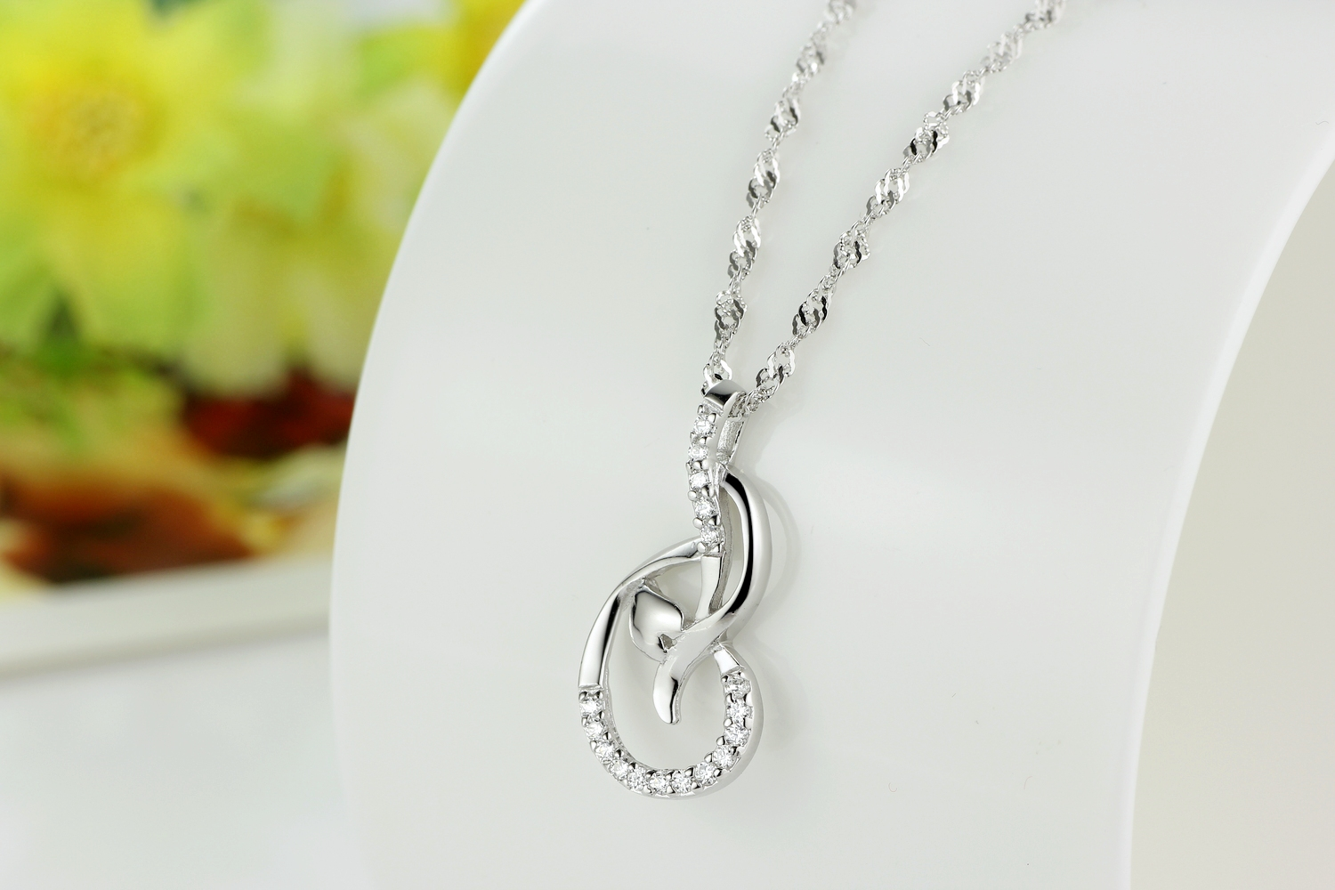 Genuine 100 925 sterling silver paved gem stone diamond dance genuine 100 925 sterling silver paved gem stone diamond dance notes circled love heart pendant mozeypictures Image collections