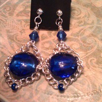 Royal Blue Marlene Earrings