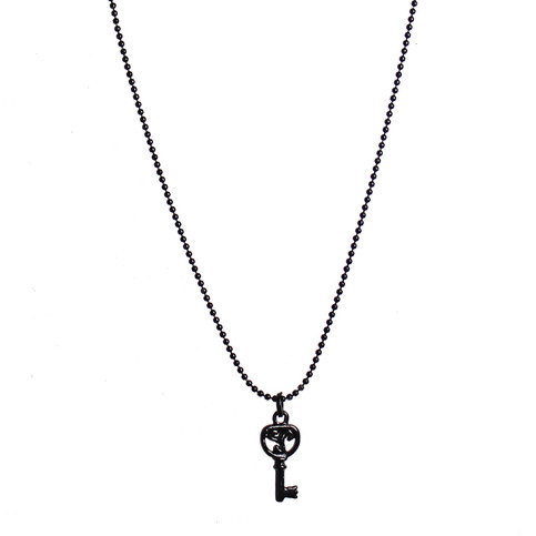 Black Logo Key Necklace