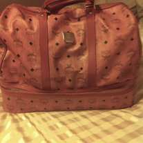MCM Original Hand Carry on Duffle Bag w zip lower compartment for shoes etc