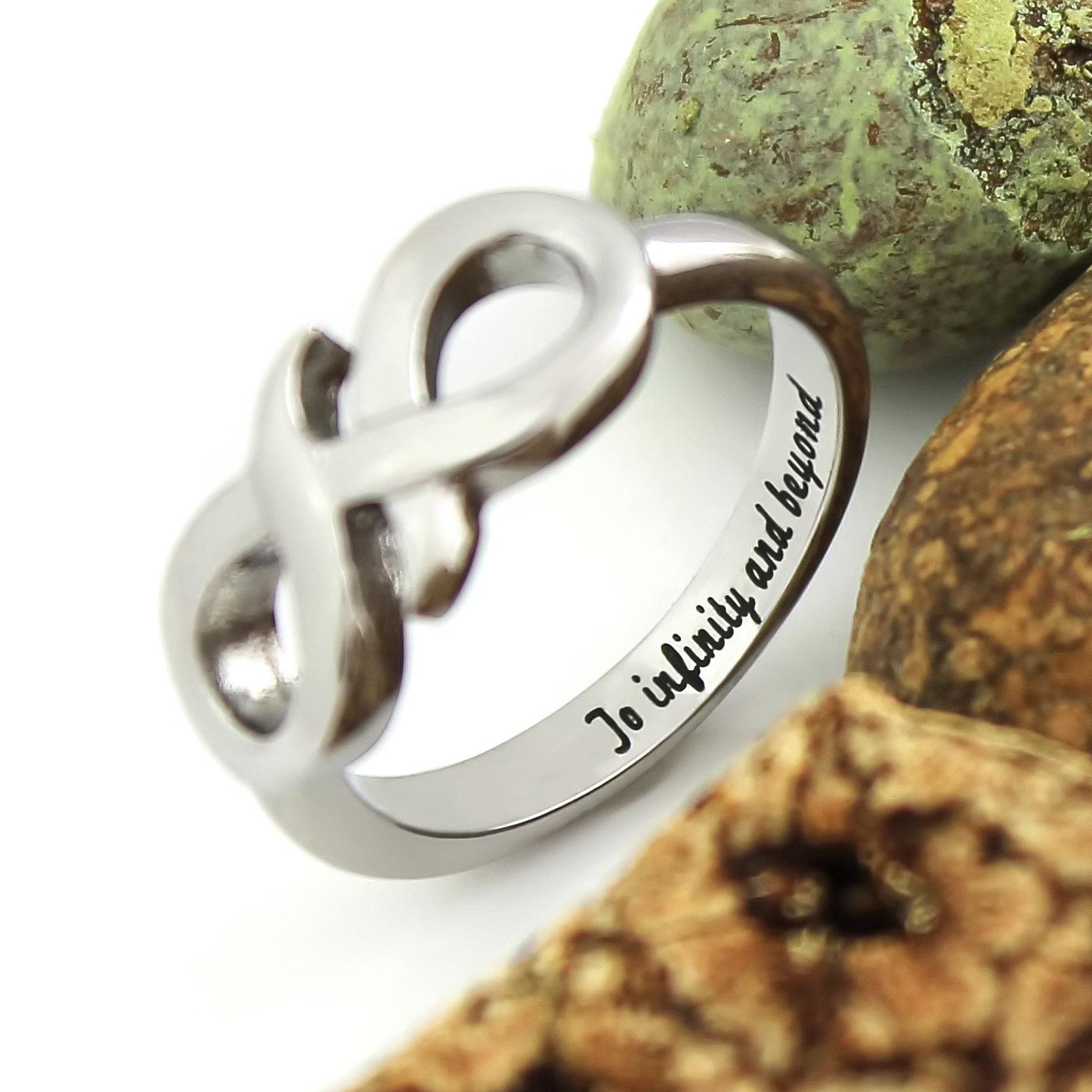 Tzaro Jewelry Infinity Ring Promise Ring Infinity Symbol Ring To