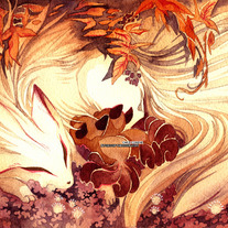 Ninetails and Vulpix Pokemon 18x24