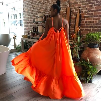 Ghana dreaming maxi neon orange