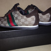 Gucci Sneakers / Shoes for Women Beige & Brown SZ 9