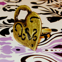 Heart on Lockdown Ring