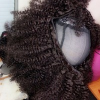Natural looking kinky human hair (handmade wig) - Thumbnail 2
