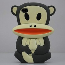 New Black Big Mouth Monkey Hard iPhone 4/4S Case (sitting) (#552)