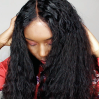 Natural Wave Handmade Human Hair Wig - Thumbnail 1