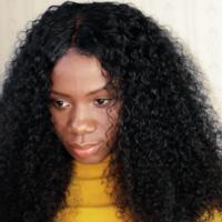 Handmade Pretty Curly Human Hair wig - Thumbnail 1