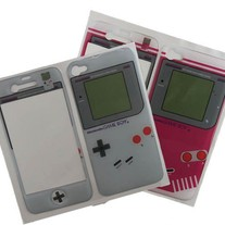 Silver Front and Back Stickers (iPhone 4/4s)