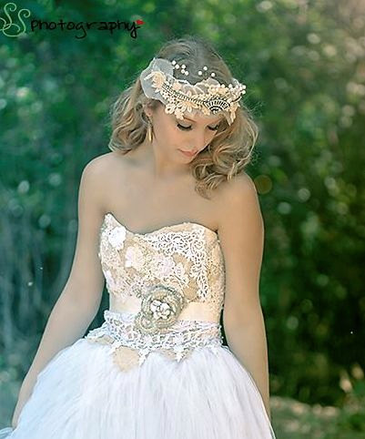 ECO-Couture wedding dress/ Non Traditional Eco dress/Fantasy ...