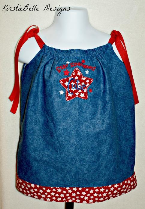 Kirstiebelle Designs 4th Of July Pillowcase Dress 12m Up