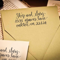 Custom Calligraphy Address Stamp (All Handwritten - ELLE Style) - Thumbnail 3