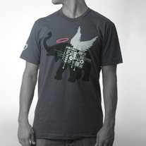 Men's Winged Elephant - Dark Grey