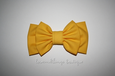 Sunshine Yellow Double Bow