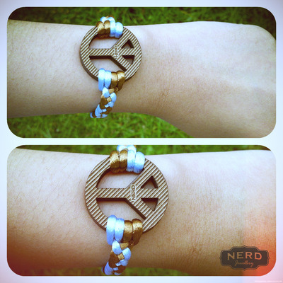 Big peace sign bracelet
