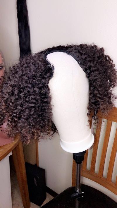 Curly U-Part Human Hair Wig (Everyday Wig)