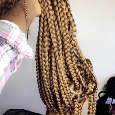Crochet box braids (big individual crochet braids)