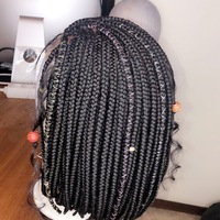Light bob wig (everyday handmade braided wig) - Thumbnail 2