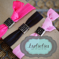crystal square {knotieties} : jetblack/gunmetal