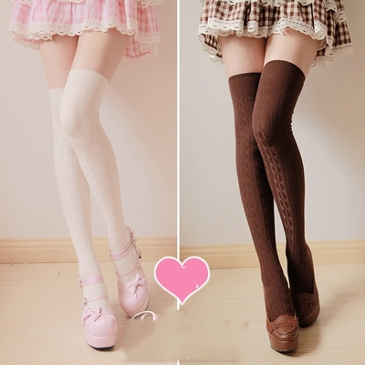 On sale!heap socks knee-high tights seven colors