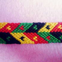 Rasta-Themed Heart Bracelet