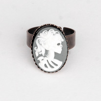 Day Of The Dead Cameo Ring