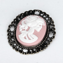 Pink Day Of The Dead Brooch