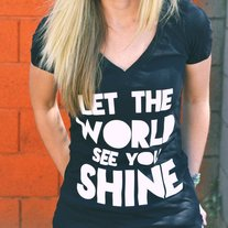 Let The World See You Shine V-Neck