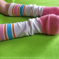 Pink Skater Sock Arm Warmer