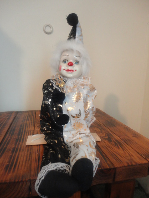 Handmade Porcelain Clown Marionette Doll  One Of A Kind  On Storenvy