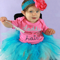 DADDY DID MY HAIR Onesie and Tutu Skirt Outfit Set 2 pcs