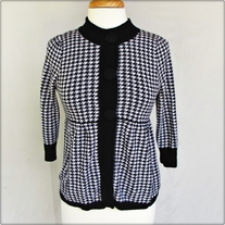 Short Skirted Houndstooth Sweater